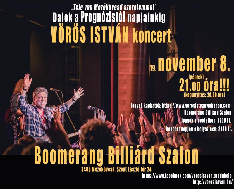 Mezőkövesd 2019 Vörös István koncert