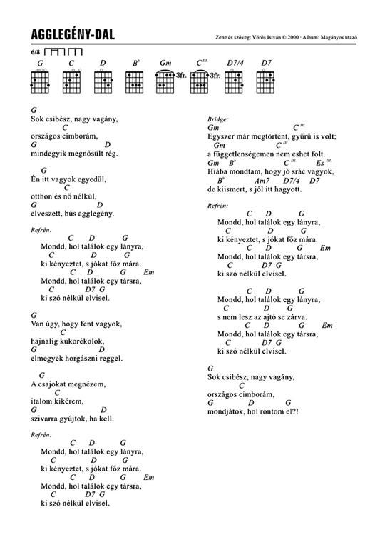 Agglegény-dal