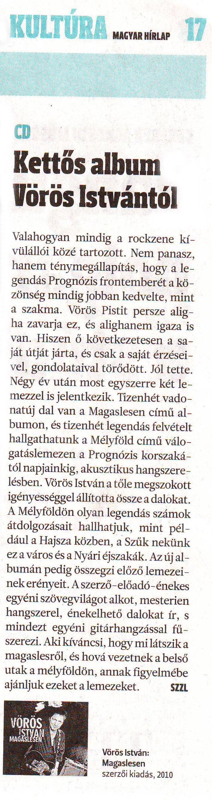 Magyar Hírlap 2010 cikk